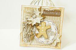 Kartka świąteczna z ciasteczkiem
