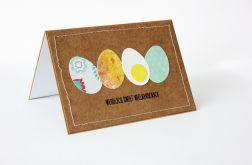 Kolorowe jajka kartka wielkanocna