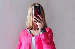 Bomberka z kieszeniami, długi sweter