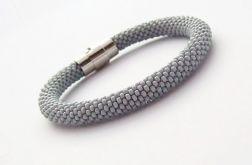 Bransoletka wąż szara1