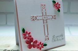 Kartka na Chrzest Święty 3 quilling