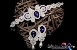 Biżuteria ślubna kobaltowa sutasz