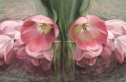 Obraz do salonu tulipany, 100 x 50, glamour