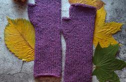 Mitenki wełniane Tweed fioletowe
