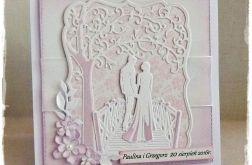 Ślubna kartka w bieli 1