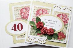 Kartka ROCZNICA ŚLUBU - czerwone róże