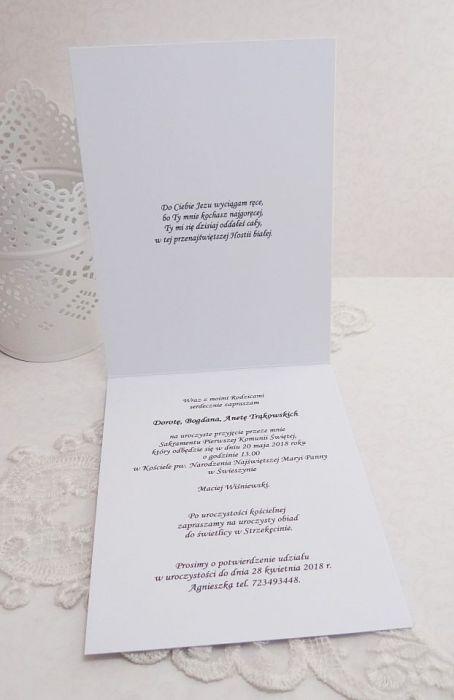 Zaproszenie na I Komunię Św-hostia 1