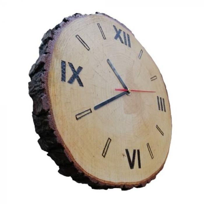 Zegar drewniany plaster drewna -