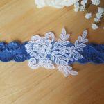 Niebieska Podwiązka ślubna NOWE TRENDY