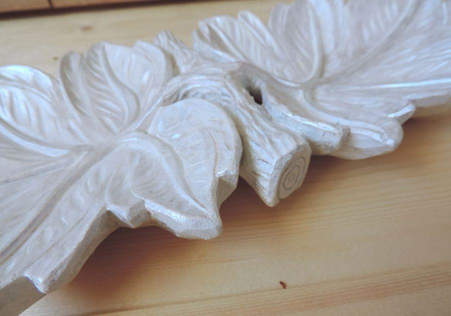 Rękodzieło - Rzeźbione liście - drewno