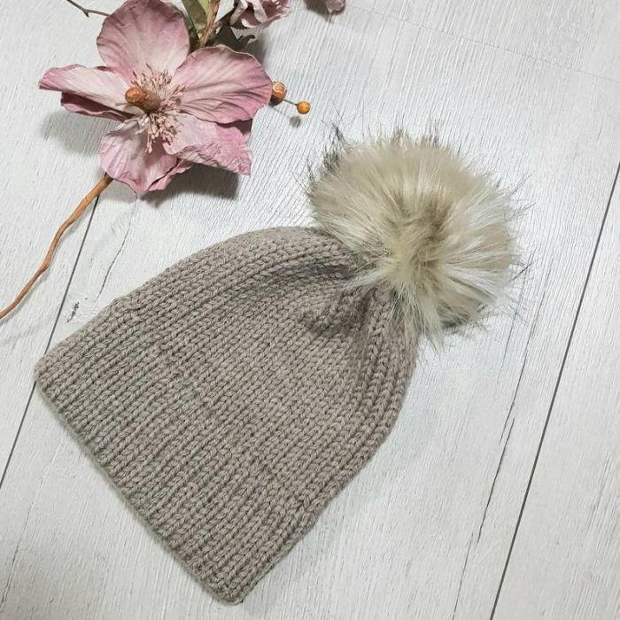 Czapka z podwójnym rondem, dla dziewczynki lub chłopca, na zamówienie - zimowa czapka