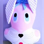 Króliczek 62 cm przytulanka poduszka. - Duży królik poduszka