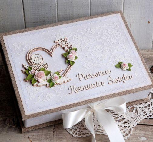 Pamiątka komunii - pudełko na zdjęcia #03