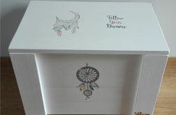 Kufer drewniany - styl boho - dreamcatcher