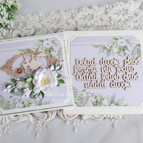 Ślubna kartka w pudełku 459