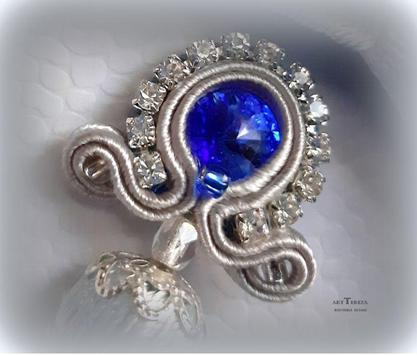 Kolczyki sutasz chwosty długie z kryształmi