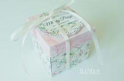Pudełko exploding box ślub kwiat jabłoni