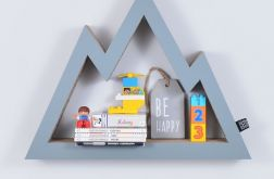 Półka na książki zabawki GÓRY | szary