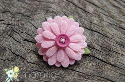 DAISY spineczka kwiatuszek różowy