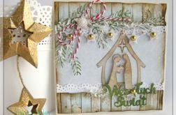 Kartka świąteczna ze stajenką 2