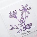 Kartka UNIWERSALNA - fioletowe kwiaty - Kartka uniwersalna - fioletowe kwiaty