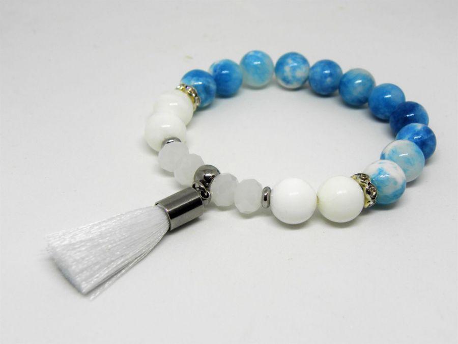 WHITE & BLUE - kamienie naturalne i stal