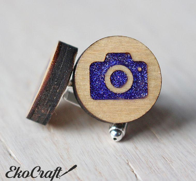 Drewniane spinki do mankietów APARAT Color -