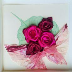 Kartka  z różami