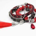 BLOOD - set - kamienie naturalne -