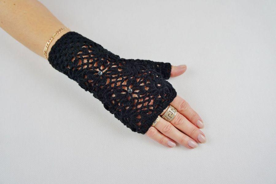 Mitenki Hand Made czarne