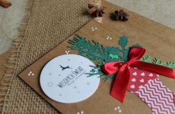 Kartka świąteczna Boże Narodzenie skarpeta
