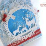 RENIFERKI - kartka świąteczna
