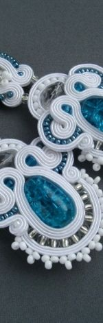 Kolczyki ślubne IRIS sutasz białe