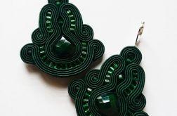 Zielone kolczyki z kryształkami