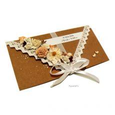 Kartka ślubna kraftowa kopertówka na prezent