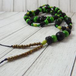 drewno zielone i czarne
