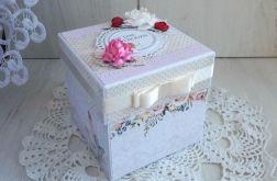 Exploding box 50 urodzinowy, pastelowy