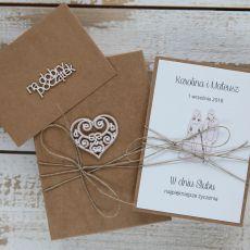 Oryginalna kartka ślubna i pudełko 12a