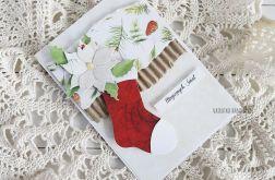 Kartka ze świąteczną skarpetą, 539