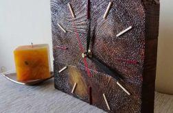Zegar drewniany stojący Kostka mała