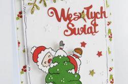 Kartka Świąteczna z Mikołajem #04