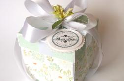 Pudełko na ślub Miętowe kwiaty