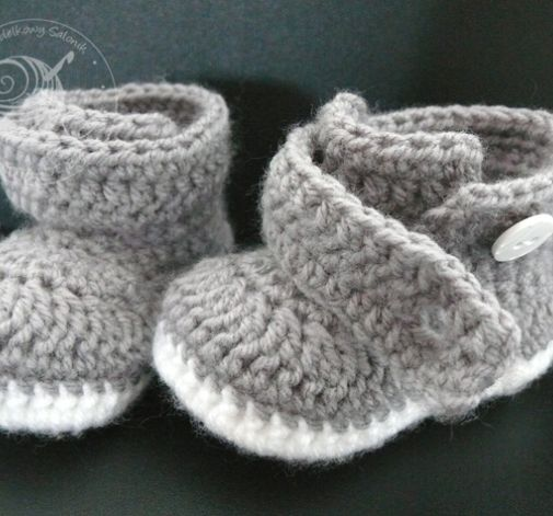 Trzewiczki chłopięce butki szydełkowe