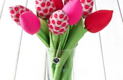 TULIPANY, bawełniany bukiet w tulipany