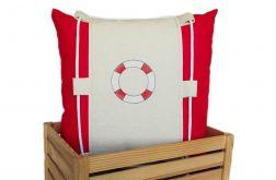 Koło ratunkowe ~ poduszka w marynarskim stylu