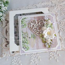 Ślubna kartka w pudełku 448