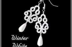 Kolczyki koronkowe - Winter White