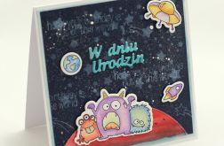 Kosmiczna kartka urodzinowa KU090