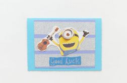 Zabawna kartka z Minionkiem nr 10 hand made