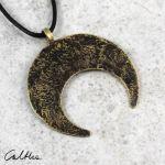 Lunula - mosiężny wisior 201204-02 - Księżyc - mosiężny wisiorek